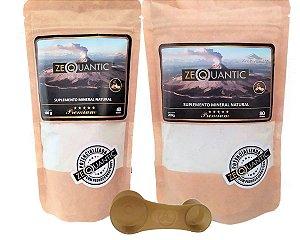kit Zeolita Premium 100g + 200g (3 Ciclos) - com DOSADOR, Suplemento Mineral Natural Frequênciada e Potencializada