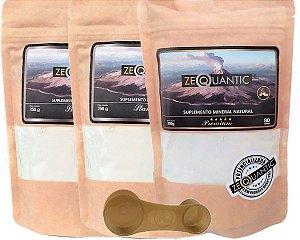 3x Zeólita Clinoptilolita 2 x 250g Standard +1 Premium 200g (4 ciclos total) Com Dosador