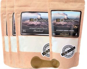 Kit Zeólita Clinoptilolita 3x  250g Standard + 1x 100g Premium  Total 4 ciclos  Com Dosador
