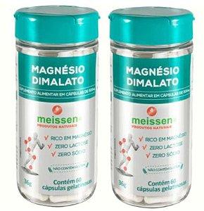 Magnésio Dimalato 500mg 120 Cápsulas ( 2 UNIDADES )