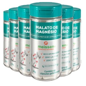 Magnésio Dimalato 500mg 360 Cápsulas ( 6 UNIDADES )