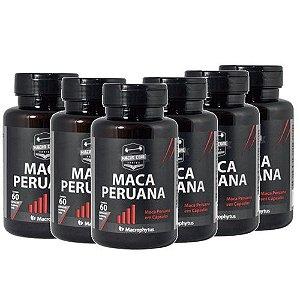 Kit 6 Maca Peruana 500mg 360 Cápsulas - Libido Testosterona
