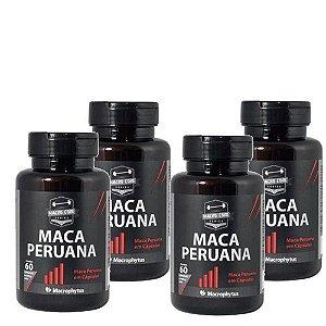 4 Maca Peruana 500mg Pura com 240cps total - Macrophytus