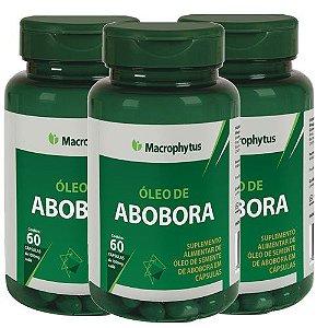 3 Óleos Semente De Abóbora 1000mg - Total 180cps - Macrophytus