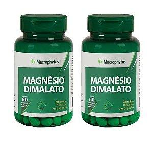 Magnésio Dimalato 400mg 60 Cápsulas - Macrophytus 2 Unidades