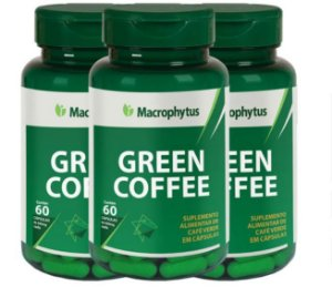 Kit Green Coffee (café Verde) 500mg 60 Cápsulas 3 Unidade