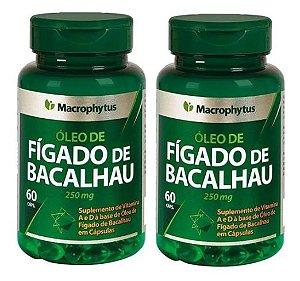 Kit Fígado De Bacalhau 250mg 2x 60 Capsulas - Macrophytus