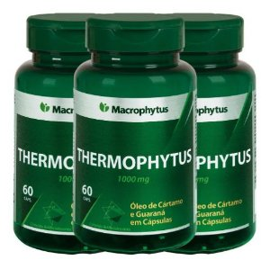 3 Thermophytus Cartamo.+ Guaraná 1000mg Total 180cps - Macrophytus