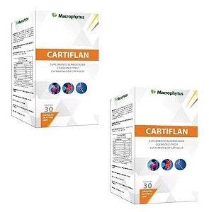Kit Cartiflan 475mg colageno Tipo 2 - 2x 30 Cáps Macrophytus