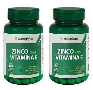 Kit Zinco Com Vitamina E 250mg - 2x 60 Macrophytus