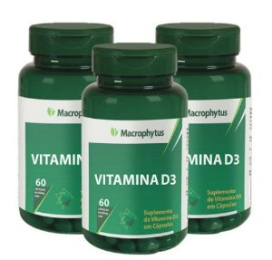Kit Vitamina D3 250mg - 180 Cáps Macrofhytus