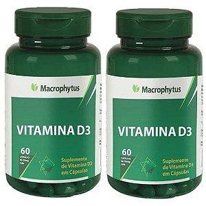 Kit Vitamina D3 250mg - 2x 60 Cáps Macrofhytus