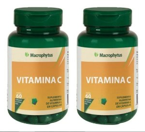 Kit Vitamina C 250mg 2x 60 Cáps - Macrophytus 2 Unidades