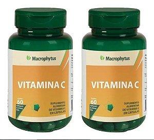 Kit Vitamina C 250mg 2x 60 Cáps - Macrophytus 2 Unidades