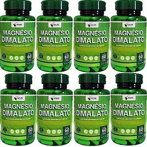 Magnésio Dimalato 500mg, 480cps - 8 Unidades de 60cps Vegan