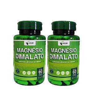 Magnésio Dimalato 500mg, 120cps - 2 Unidades de 60cps Vegan
