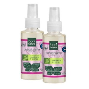 Kit 2 Desodorante Spray Boni Natural 120ml - Vegano
