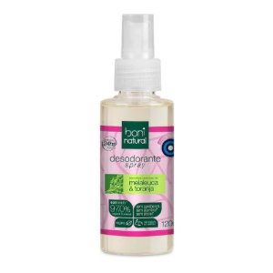 Desodorante Spray Boni Natural Melaleuca E Toranja 120ml