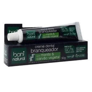 Creme Dental Menta E Carvão Vegetal 90g - Boni Natural