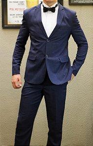 Aluguel terno azul com gravata borboleta