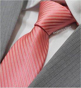 gravata rosa risca