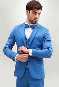 1 ºAluguel  de terno slim azul jeans _Via Santony
