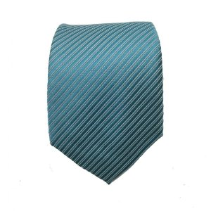 Gravata Tradicional Trabalhada - Cor Tiffany