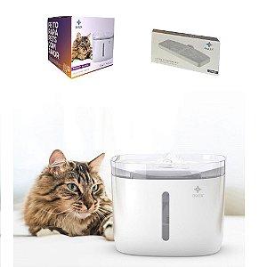 Bebedouro Elétrico para Cães Cachorros Gatos Pets + 2 Refil