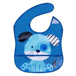 Babador Azul Tema Cachorrinho Impermeável, Girotondo