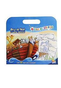 Livro para Colorir Pintar Arca de Noé com Adesivos, Editora TodoLivro