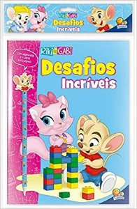 Kit Livro + Lápis-Borracha para Colorir Riki & Gabi, Editora TodoLivro