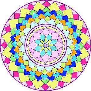 Adesivo Parede Mandala da Alegria 15 cm