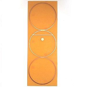 Placa Gráfico Tri-Círculo - Gráfico em Cobre