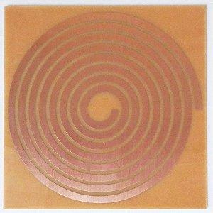 Placa Radiônica Espiral 17 cm - Gráfico em Cobre