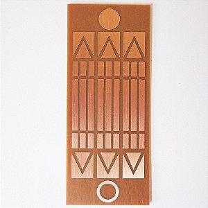 Placa Luxor Gigante - Gráfico em Cobre 12 cm x 30 cm
