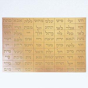 Placa 72 Nomes de Deus G - Gráfico em Cobre