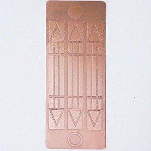 Placa Luxor Cobre Maciço 7 cm x 14 cm