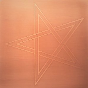 Placa Estrela de Cinco Pontas - Cobre Maçiço