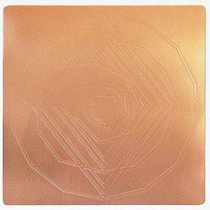 Placa Espiral Cósmico G Cobre Maciço