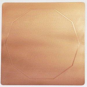 Placa Decágono - Cobre Maciço