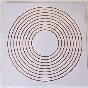 Placa Nove Circulos de Proteção - Em PVC