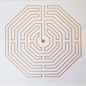 Placa Labirinto D'Amiens - Em PVC