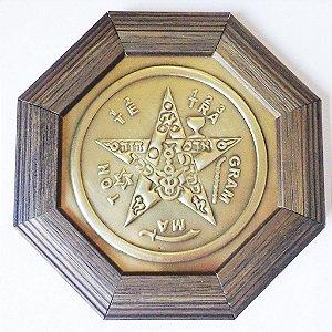Quadro Tetragrammaton  Moldura Madeira