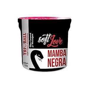 BOLINHA EXPLOSIVA MAMBA NEGRA SOFT LOVE 3 UND (ESQUENTA, ESFRIA E PULSA)