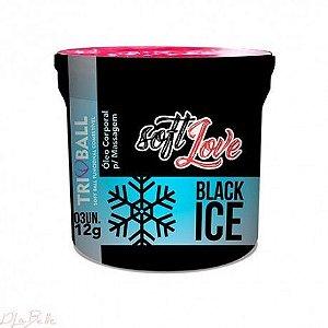 BOLINHA EXPLOSIVA BLACK ICE SABOR MENTA SOFT LOVE 3 UND - (ESFRIA)