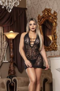 BODYSTOCKING VESTIDO SENSUAL TAM. Ú (VESTE DO 36 AO 48)