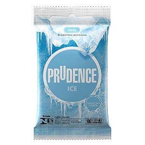 PRESERVATIVOS ICE COM 3 UNIDADES PRUDENCE