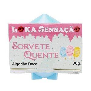 VELA SORVETE QUENTE 30G LOKA ALGODÃO DOCE
