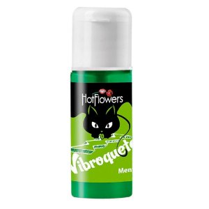 GEL PARA O SEXO ORAL VIBROQUETE SABOR MENTA - HOT FLOWERS 12ML