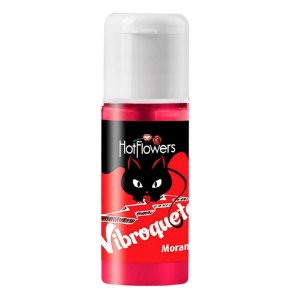 GEL PARA O SEXO ORAL VIBROQUETE SABOR MORANGO - HOT FLOWERS 12ML